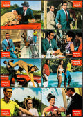 "Movie Posters:James Bond, Dr. No (United Artists, 1962). Very Fine-. German Lobby Cards (8)(11.75"" X 8.25""). James Bond.. ... (Total: 8 Items)"