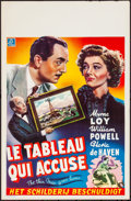 "Movie Posters:Mystery, The Thin Man Goes Home (MGM, 1945). Rolled, Very Fine-. Belgian (14"" X 21.75""). Mystery.. ..."