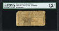 Colonial Notes:New Jersey, New Jersey April 12, 1760 15s PMG Fine 12 Net....