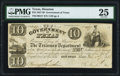 Houston, TX- Government of Texas $10 Nov. 1, 1838 Cr. H17 Medlar 60 PMG Very Fine 25