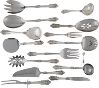 A Forty-Six Piece Wallace Grande Baroque Pattern Silver Flatware Service, Wallingfor... (Total: 46)