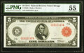 Fr. 838b $5 1914 Red Seal Federal Reserve Note PMG About Uncirculated 55