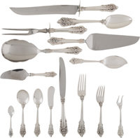 A One Hundred and Twenty-Three Piece Wallace Grand Baroque Pattern Silver Flatware Service</... (Total: 127)
