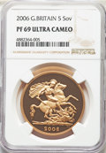 Great Britain, Great Britain: Elizabeth II gold Proof 5 Pounds 2006 PR69 Ultra Cameo NGC,...