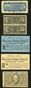 Miscellaneous:Other, Rail Tickets ND Not Graded Five Examples.. ... (Total: 5 items)