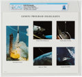 "Explorers:Space Exploration, Gemini: NASA ""Gemini Program Highlights"" Color Photo Directly From The Armstrong Family Collection™, CAG Certified...."