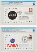 Explorers:Space Exploration, Philatelia: 15th Anniversary of NASA Postal Cover and 20th Anniversary of NASA Postal Cover Directly From The Armstrong Family... (Total: 2 )