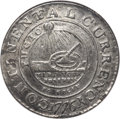 Colonials, 1776 $1 Continental Dollar, CURRENCY, Pewter, EG FECIT, AU55 NGC. Newman 3-D, W-8460, R.4....