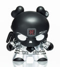 Collectible:Contemporary, Huck Gee X Kidrobot. Skullhead Dunny (Black/White), 2011. Painted cat vinyl. 6 x 5-1/2 x 5 inches (15.2 x 14 x 12.7 cm)...