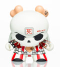 Collectible:Contemporary, Huck Gee X Kidrobot. Skullhead Dunny (Red/White), 2011. Painted cast vinyl. 6-1/2 x 5-1/2 x 5-1/2 inches (16.5 x 14 x 14...