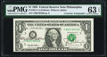 Mary Ellen Withrow and Robert E. Rubin Dual Courtesy Autographed Fr. 1921-C $1 1995 Federal Reserve Note. PMG Choice Unc...