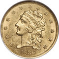 Classic Quarter Eagles, 1836 $2 1/2 Block 8 MS62 NGC. Breen-6144, Second Head of 1837, Variety 15, R.2....