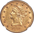 Liberty Eagles, 1861 $10 AU58 NGC....