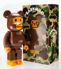 Collectible, BE@RBRICK X BAPE. Baby Milo 1000%, 2016. Painted cast resin. 28-1/2 x 14-1/2 x 9 inches (72.4 x 36.8 x 22.9 cm). Ed. 643...
