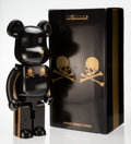 Collectible:Contemporary, BE@RBRICK X mastermind. Gold Stripe 1000%, 2013. Painted cast resin. 28-1/2 x 14-1/2 x 9 inches (72.4 x 36.8 x 22.9 cm)...
