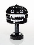 Lighting:Contemporary, Jun Takahashi X Medicom Toy. Undercover Hamburger Lamp (Black), 2018. Painted cast resin with lighting mechanisms. 12 x ...