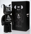 Collectible:Contemporary, BE@RBRICK X Neighborhood. Black 1000%, 2016. Painted cast resin. 28-1/2 x 14-1/2 x 9 inches (72.4 x 36.8 x 22.9 cm). Sta...