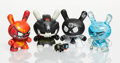 Collectible:Contemporary, Kidrobot . Set of Four Dunnies, 2013. Painted cast vinyl. 3 x 2 x 1 inches (7.6 x 5.1 x 2.5 cm) (each). Each stamped to ... (Total: 4 Items)