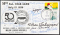 Autographs:Post Cards, 1979 50th All-Star Game Multi-Signed First Day Cover (15 Signatures)....