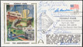 Autographs:Post Cards, 1987 Fenway Park 75th Anniversary Multi-Signed First Day Cover (10 Signatures)....