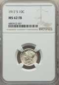 1917-S 10C MS62 Full Bands NGC. NGC Census: (33/196). PCGS Population: (38/525). Mintage 27,330,000
