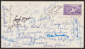Autographs:Post Cards, 1939 Multi-Signed First Day Cover (26 Signatures)....