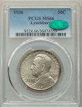 Commemorative Silver, 1936 50C Lynchburg MS66 PCGS. CAC. PCGS Population: (707/120). NGC Census: (462/104). CDN: $250 Whsle. Bid for problem-free...