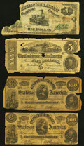 Brunswick, GA- Brunswick & Albany Rail Road Company $1 Mar. 1, 1871 Fair; Confederate Facsimile Notes $5; $100 (...