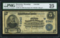 National Bank Notes:Wyoming, Meeteetse, WY - $5 1902 Date Back Fr. 590 The First NB Ch. # (W)6340 PMG Very Fine 25.. ...