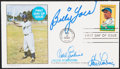 Autographs:Post Cards, 1982 Jackie Robinson Multi-Signed First Day Cover (3 Signatures)....