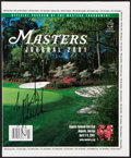 """Golf Collectibles:Autographs, 2001 Tiger Woods Signed Masters Program - Accomplishes the """"Tiger Slam!""""..."""