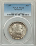 Commemorative Silver, 1936 50C Robinson MS66 PCGS. PCGS Population: (521/93). NGC Census: (218/32). CDN: $240 Whsle. Bid for problem-free NGC/PCG...