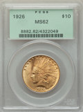 Indian Eagles: , 1926 $10 MS62 PCGS. PCGS Population: (14065/18682). NGC Census: (15185/20954). MS62. Mintage 1,014,000. ...