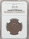Large Cents: , 1816 1C MS61 Brown NGC. NGC Census: (7/85). PCGS Population: (4/167). MS61. Mintage 2,820,982. ...