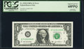 Mismatched Serial Numbers Error Fr. 1930-B $1 2003A Federal Reserve Note. PCGS Superb Gem New 68PPQ