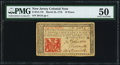 New Jersey March 25, 1776 18d PMG About Uncirculated 50