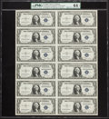 Small Size:Silver Certificates, Fr. 1613N $1 1935D Silver Certificates. Uncut Sheet of Twelve. PMG Choice Uncirculated 64 EPQ.. ...