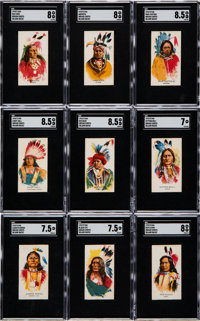 1910's D46 Indian Chiefs (Blank Backs) Complete Set (50) Plus Mailing Box