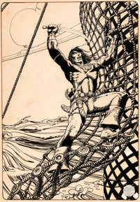 "Barry Smith ""Conan the Buccaneer"" Illustration Original Art (1974)"