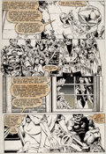 Original Comic Art:Panel Pages, Michael Golden and Armando Gil Avengers Annual #10 Story Page 37 Original Art (Marvel, 1981)....