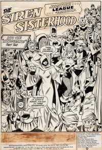 Don Heck and Rome Tanghal Justice League of America #214 Splash Page 1 Original Art (Marvel