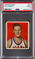 Basketball Cards:Singles (Pre-1970), 1948 Bowman Jack Smiley #33 PSA Mint 9 - Pop Three, None Higher....