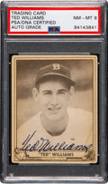 Autographs:Sports Cards, Signed 1940 Play Ball Ted Williams #27 PSA/DNA NM-MT 8. ...
