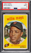 Baseball Cards:Singles (1950-1959), 1959 Topps Willie Mays #50 PSA Mint 9....