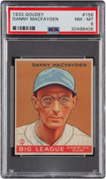 Baseball Cards:Singles (1930-1939), 1933 Goudey Danny Macfayden #156 PSA NM-MT 8 - Only One Higher. ...