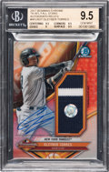 Baseball Cards:Singles (1970-Now), 2017 Bowman Chrome Gleyber Torres '16 AFL Fall Stars AutographRelic Numbered 34/50 BGS Gem Mint 9.5 - 10 Autograph.....
