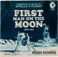 "Explorers:Space Exploration, Vinyl: ""First Man on the Moon, July 1969"" 45 RPM Record by Hugh Downs Directly From The Armstrong Family Collection™, CAG Cert..."
