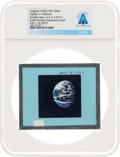 Explorers:Space Exploration, Apollo 11 Original NASA Glass Film Slide, an Image of Earth During Translunar Coast, Directly From The Armstrong Family Co...