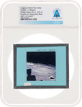 Explorers:Space Exploration, Apollo 11 Original NASA Glass Film Slide, an Image of Sunrise on Tranquility, Directly From The Armstrong Family Collectio...