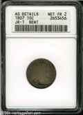 Early Dimes: , 1807 10C Fair2--Bent--ANACS, AG Details JR-1....